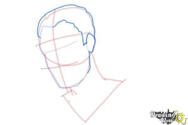 How to Draw Slicked Back Hair - Step 6