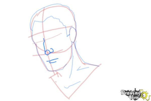 How to Draw Slicked Back Hair - Step 8
