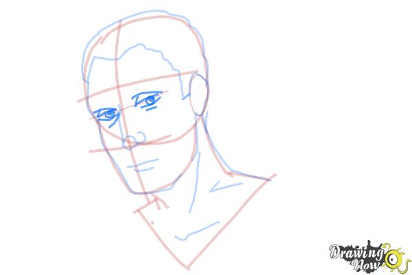 How to Draw Slicked Back Hair - Step 9