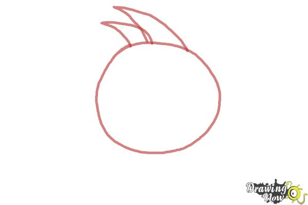 How to Draw Space Angry Birds - Step 1