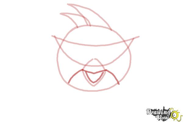How to Draw Space Angry Birds - Step 3