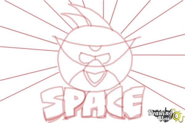 How to Draw Space Angry Birds - Step 7