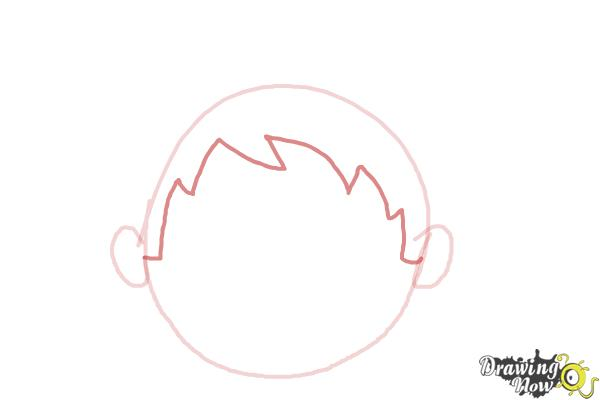 How to Draw a Sad Face - Step 3