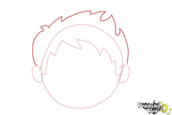 How to Draw a Sad Face - Step 4