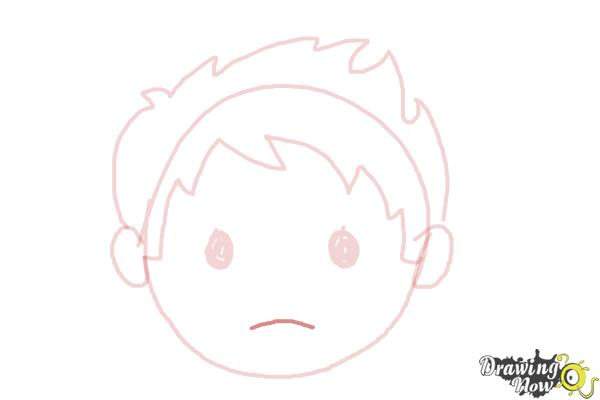 How to Draw a Sad Face - Step 6