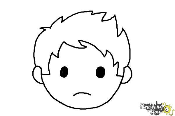 How to Draw a Sad Face - Step 7