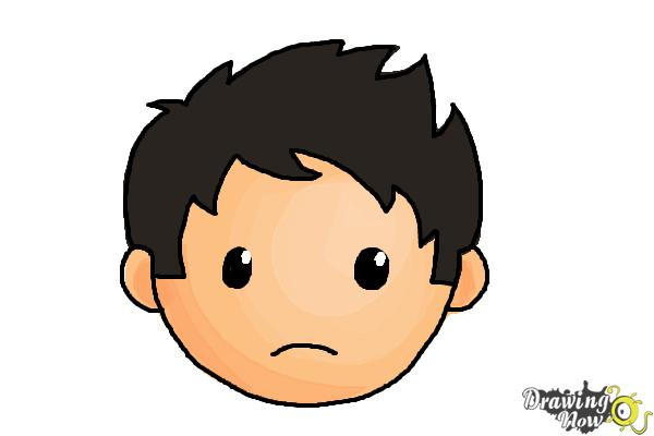 How to Draw a Sad Face - Step 8
