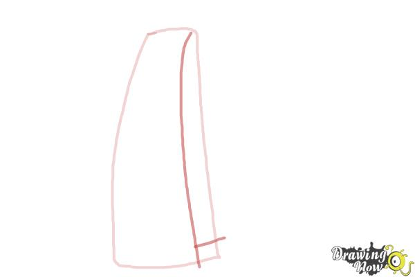 How to Draw a Scarf - Step 2