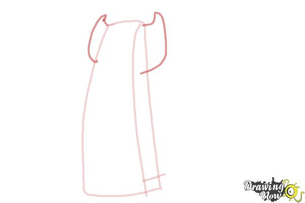 How to Draw a Scarf - Step 3