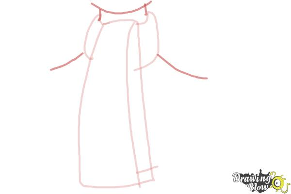 How to Draw a Scarf - Step 4