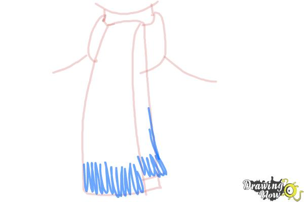 How to Draw a Scarf - Step 5