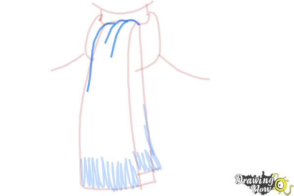 How to Draw a Scarf - Step 6