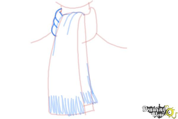How to Draw a Scarf - Step 7