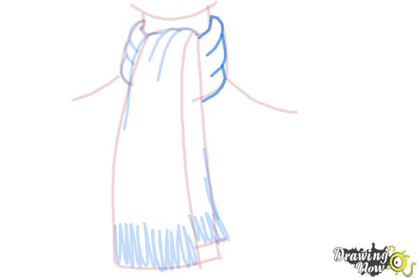 How to Draw a Scarf - Step 8