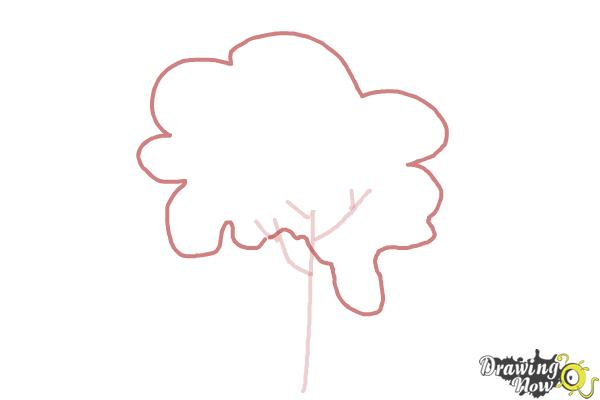 How to Draw a Simple Tree - Step 3