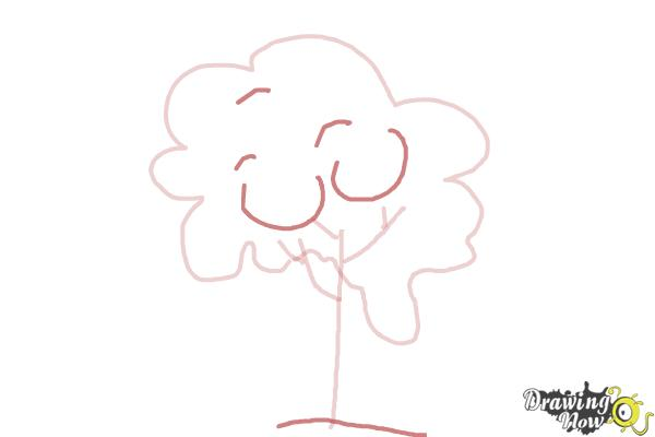 How to Draw a Simple Tree - Step 4