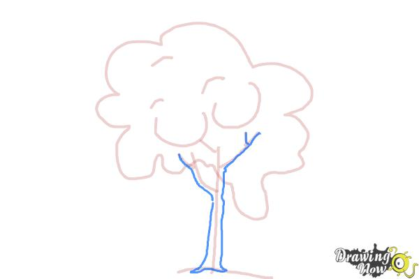 How to Draw a Simple Tree - Step 5