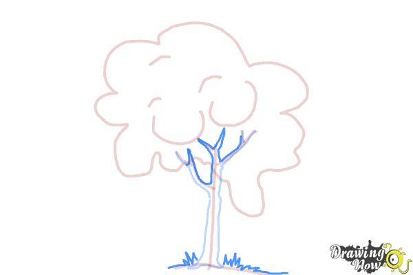 How to Draw a Simple Tree - Step 6