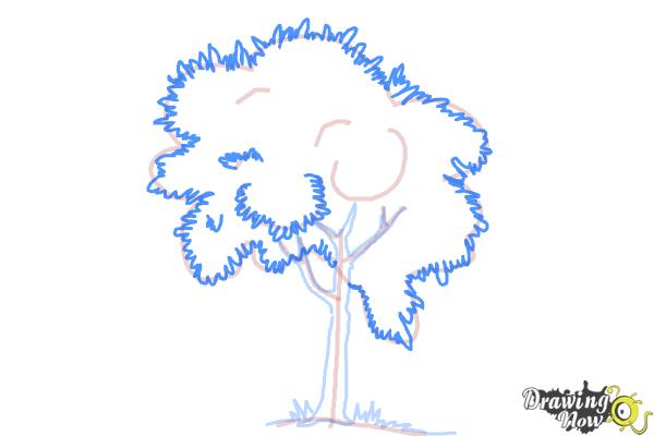 How to Draw a Simple Tree - Step 7