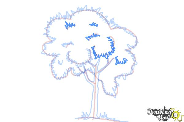 How to Draw a Simple Tree - Step 8