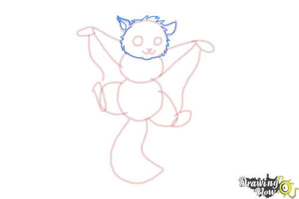 How to Draw a Flying Squirrel - Step 10