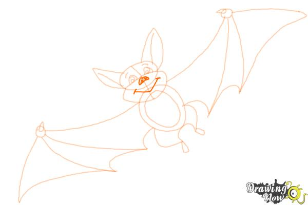 How to Draw a Bat For Kids - Step 10