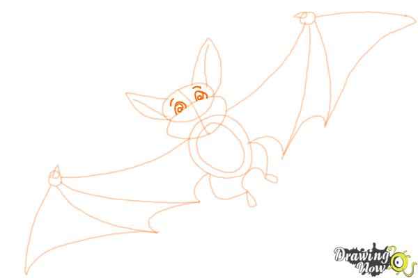 How to Draw a Bat For Kids - Step 9