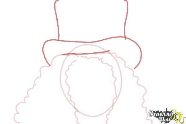 How to Draw Slash, Saul Hudson - Step 4