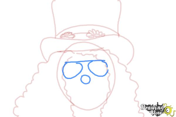 How to Draw Slash, Saul Hudson - Step 6