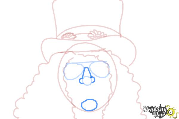 How to Draw Slash, Saul Hudson - Step 7