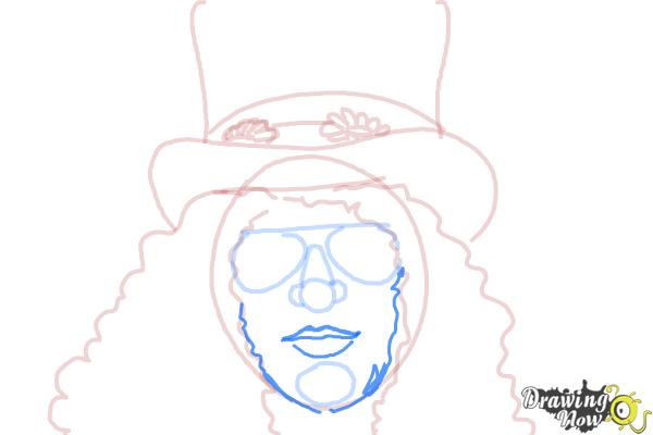 How to Draw Slash, Saul Hudson - Step 8
