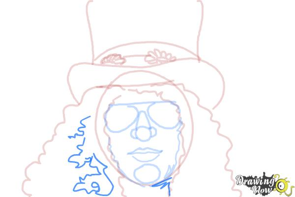 How to Draw Slash, Saul Hudson - Step 9