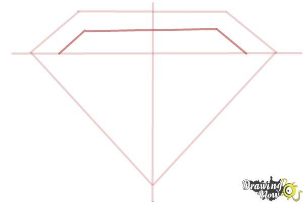 How to Draw Superman Logo - Step 4