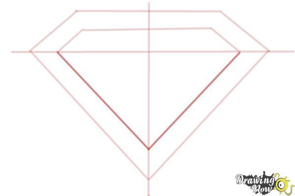 How to Draw Superman Logo - Step 5