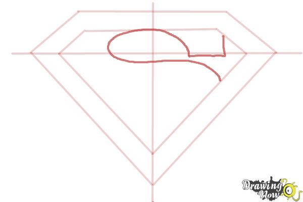 How to Draw Superman Logo - Step 6