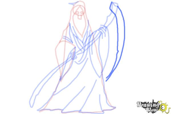 How to Draw a Grim Reaper Step by Step - Step 10