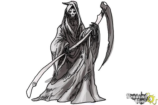 How to Draw a Grim Reaper Step by Step - Step 12