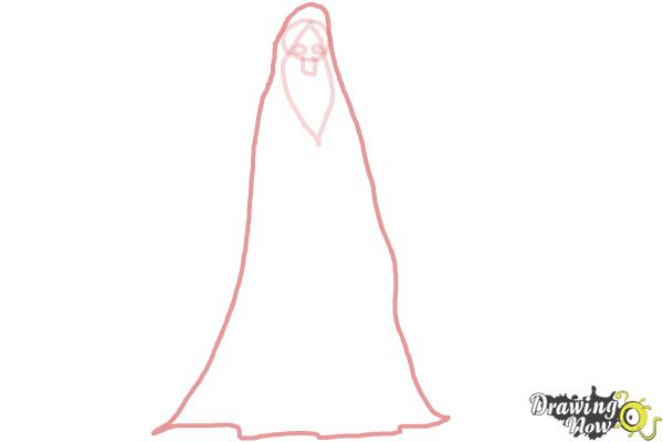 How to Draw a Grim Reaper Step by Step - Step 3