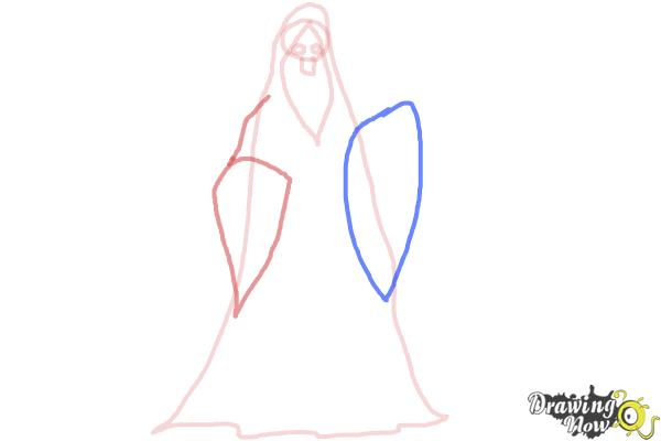 How to Draw a Grim Reaper Step by Step - Step 4