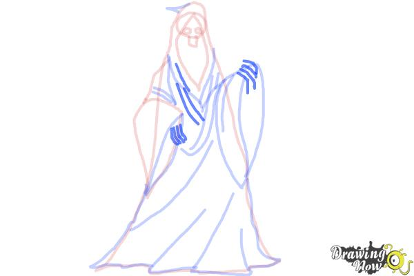 How to Draw a Grim Reaper Step by Step - Step 8