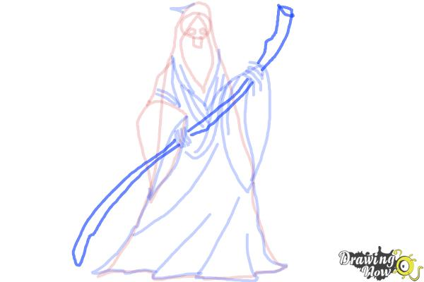 How to Draw a Grim Reaper Step by Step - Step 9