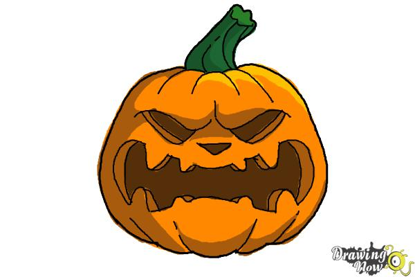 How To Draw A Pumpkin Face Drawingnow