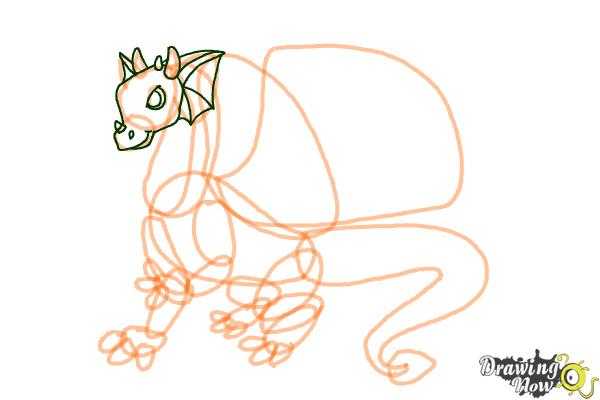 How to Draw Mythical Creatures Step by Step - Step 6