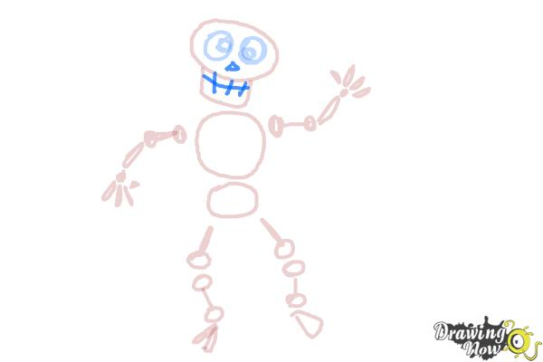 How to Draw Skeleton For Kids - Step 11