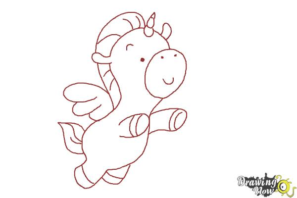 How to Draw a Unicorn For Kids - Step 13