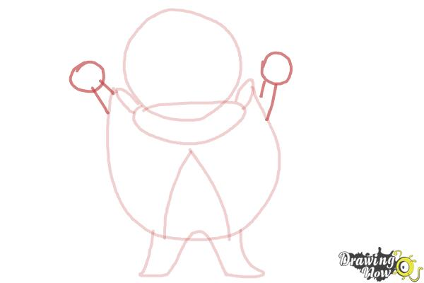 How to Draw a Cartoon Vampire - Step 4