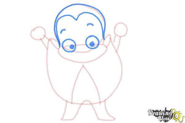 How to Draw a Cartoon Vampire - Step 5