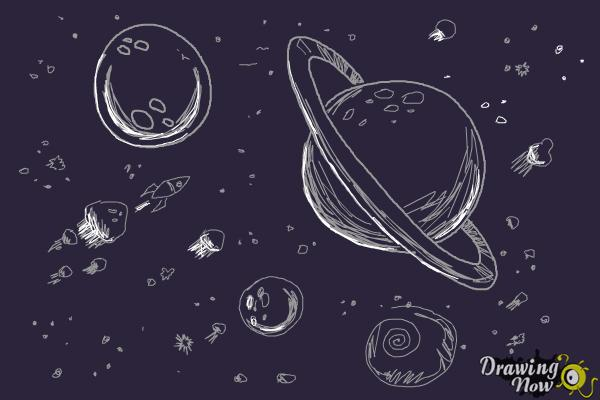 How to Draw Space - Step 12