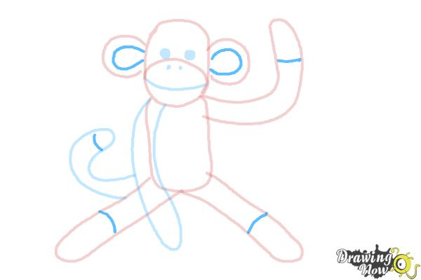 How to Draw a Sock Monkey - Step 10