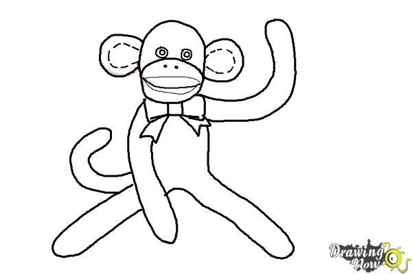 How to Draw a Sock Monkey - Step 13